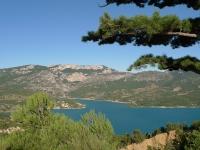 lac d'Esparron Gréoux les Bains Hôtel des Alpes
