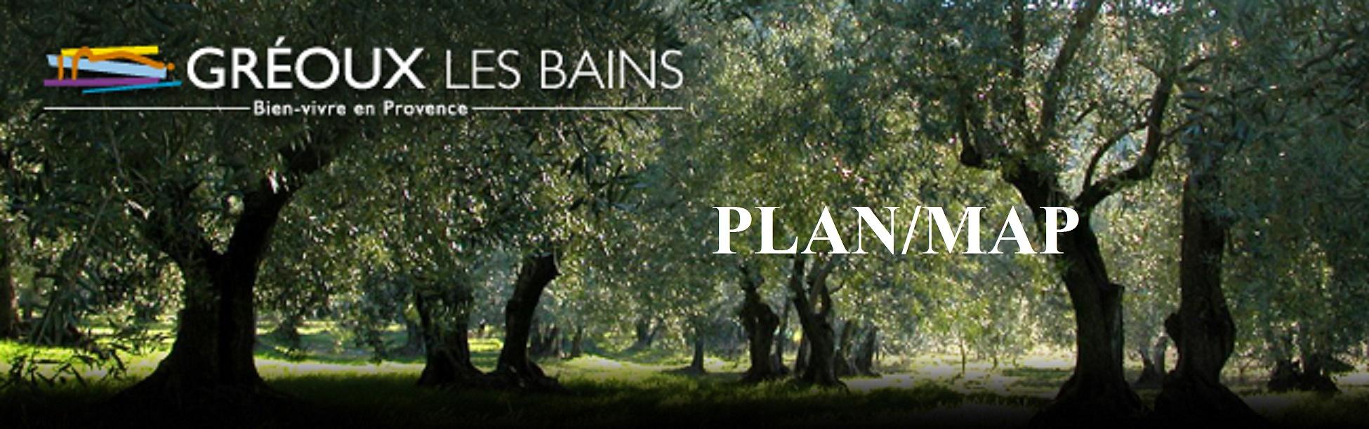 Plan De La Ville De Gr Ef Bf Bdoux Les Bains