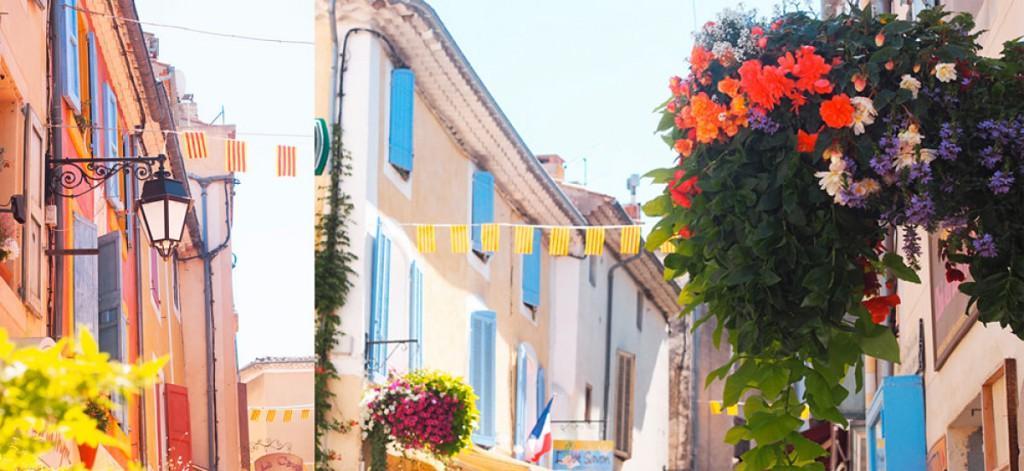 Façades provençales HOTEL DES ALPES à Greoux-les-Bains