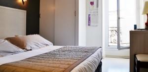 Chambre confort Hôtel des Alpes Gréoux 2014