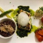 Saint pierre grillé aux asperges et basilic restaurant les alpes gréoux 1